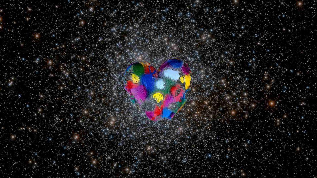 Corazón colores universo