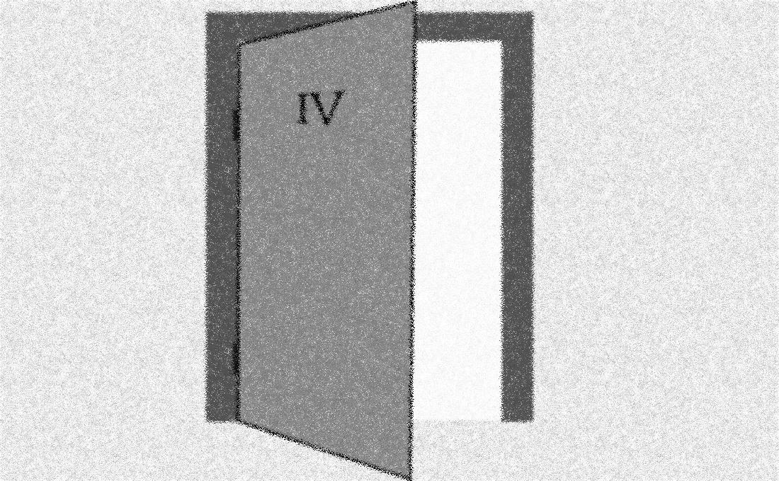 Puerta abierta con el número 4 que invita a entrar en una habitación con más luz.