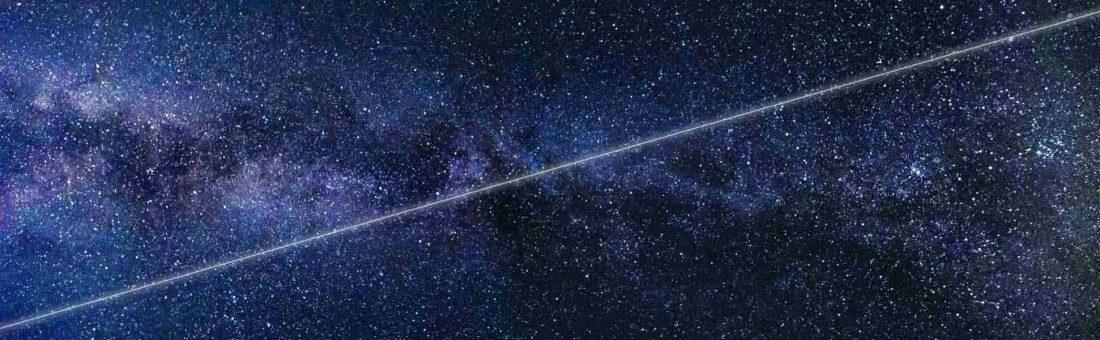 Un recta en el universo